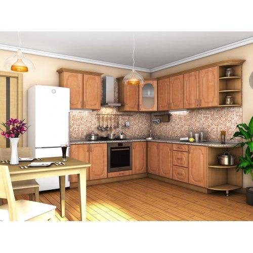 Кухня Сансет ольха темная тисненая (2,4х2,5 м)