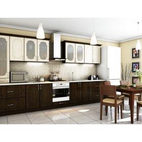 Кухня Сансет клен светлый / венге темный (3,8 м)