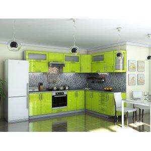 Кухня Гламур лайм металлик (2,8х2,1)
