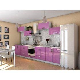 Кухня Гламур лиловый металлик (3,8 м)