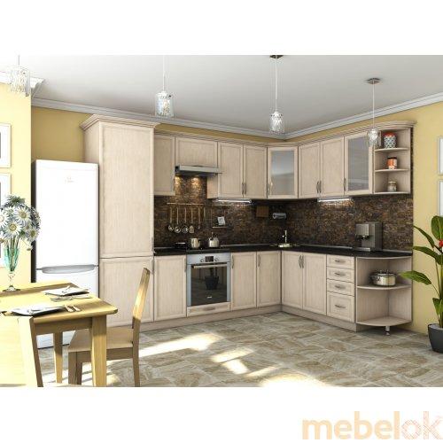Зеркальное отображение - Кухня Контур дуб молочный (2,1х3,0 м)