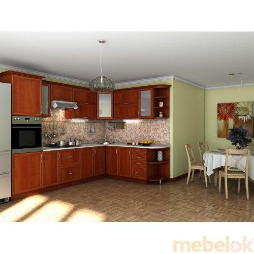 Зеркальное отображение - Кухня Контур яблоня (2,1х3,0 м)