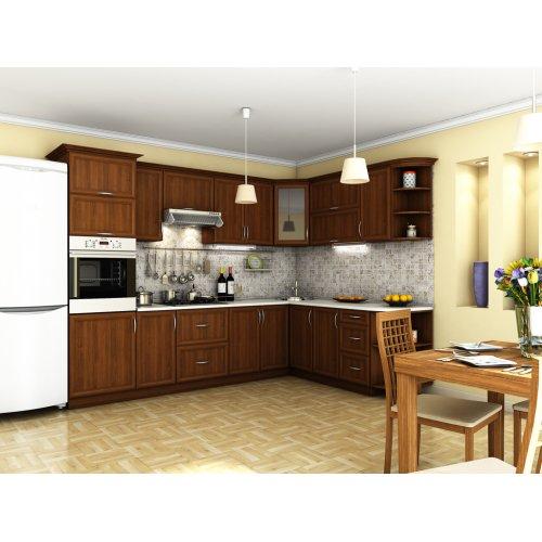 Кухня Контур орех темный (3,0х2,1 м)