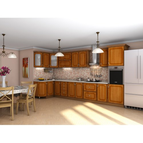 Кухня Платинум вишня Форема патина (1,40х4,05 м)
