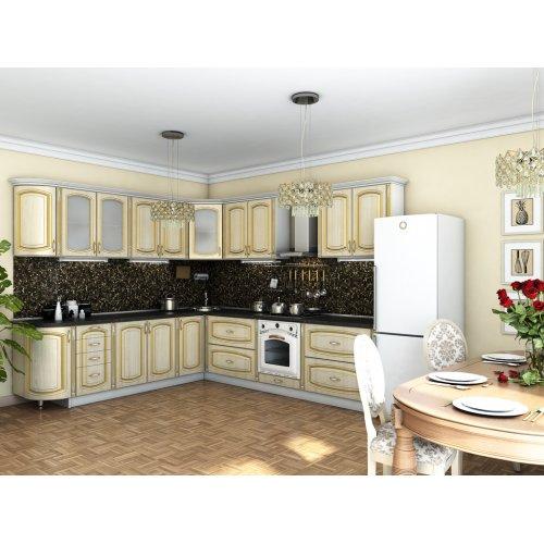 Кухня Платинум ясень Голд патина (2,65х3,0 м)