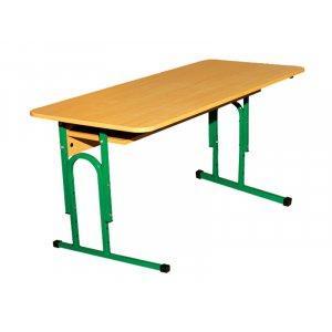Стол ученический 2-местный с полочкой