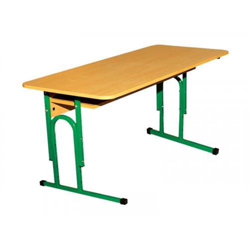 Стол ученический 2-местный с полочкой №1-3