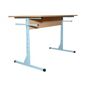 Стол для столовой прямоугольный 6-местный регулируемый