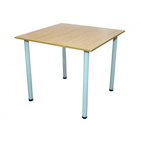 Стол для столовой квадратный 4-местный (круглая труба)