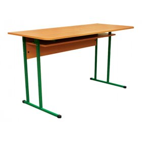 Стол ученический 2-местный с полочкой №6