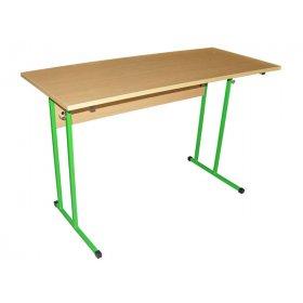 Стол ученический 2-местный без полочки №6 (столешница с прямыми углами)