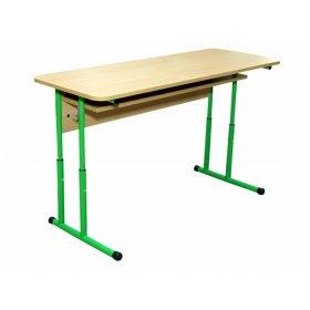 Стол ученический 2-местный с полочкой усиленной конструкции №4-7