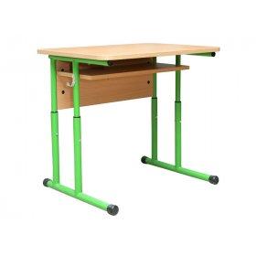 Стол ученический 1-местный с полочкой усиленной конструкции №4-7