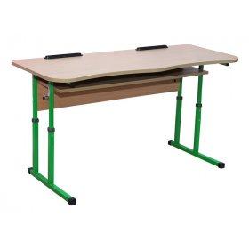 Стол ученический 2-местный с полочкой для 4-6 ростовок
