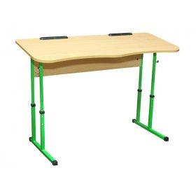 Стол ученический 2-местный без полочки для 4-6 ростовок