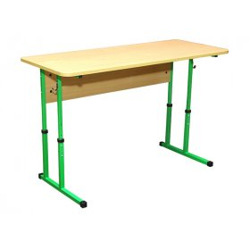 Стол ученический 2-местный без полочки (регулировка 4-6)