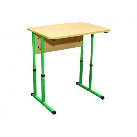 Стол ученический 1-местный без полочки (регулировка 4-6)