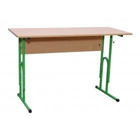 Стол ученический 2-местный без полочки (столешница с прямыми углами) №4-6