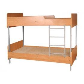 Кровать двухъярусная на металлическом каркасе 85х195
