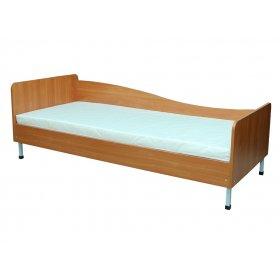 Кровать односпальная с закругленными спинками 84х193 (левосторонняя)