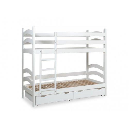Кровать двухъярусная с ящиками тонированная