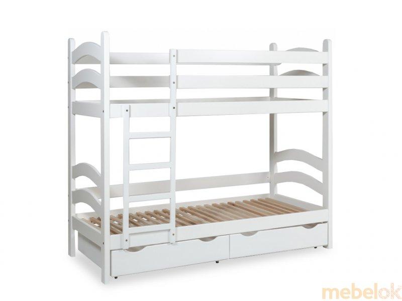 Кровать двухъярусная TOKYO подростковая 80х190 с ящиками