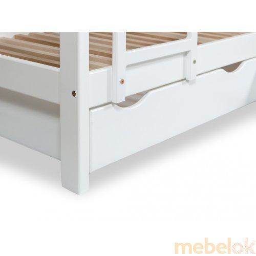 кровать с видом в обстановке (Кровать двухъярусная TOKYO подростковая 80х190 с ящиками)