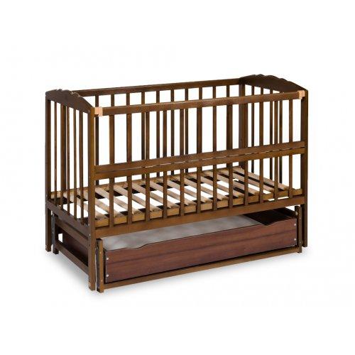 Кровать с ящиком и откидной боковиной на шарнирах
