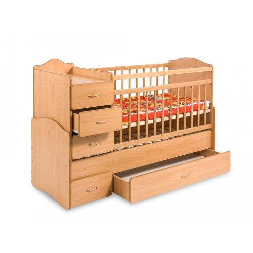 Кровать-трансформер с ящиком и тумбой 60х120 и 70х170