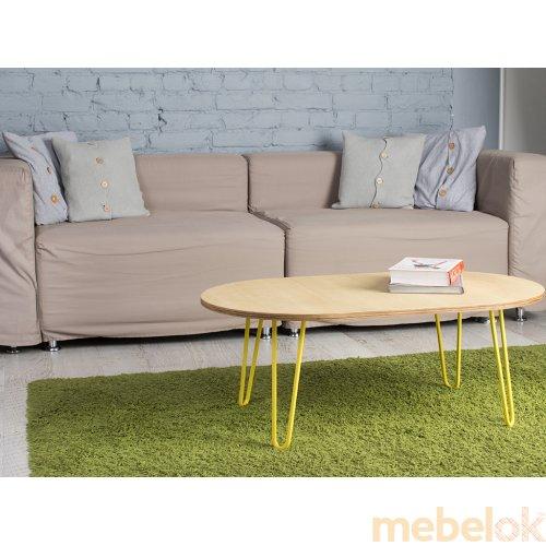 стіл з виглядом в обстановці (Стіл Oval Low 1500)