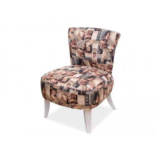 Кресло Квадро 1 газетный принт