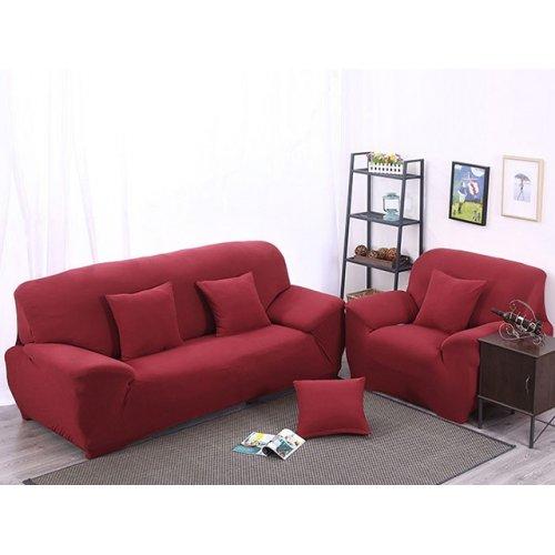 Чехол на трехместный диван HomyTex 195х230 бордовый