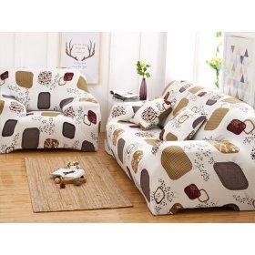 Чехол на трехместный диван HomyTex 195х230 квадраты