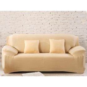 Чехол на двухместный диван HomyTex 145х185 бежевый