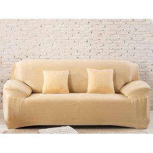 Чохол на тримісний диван 195х230 бежевий