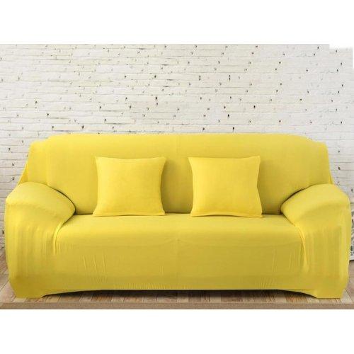 Чехол на трехместный диван HomyTex 195х230 желтый