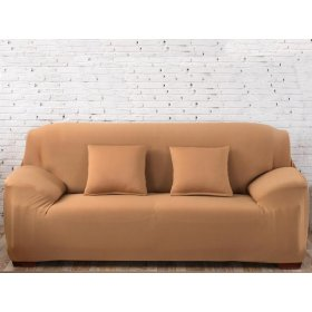 Чехол на двухместный диван HomyTex 145х185 песочный