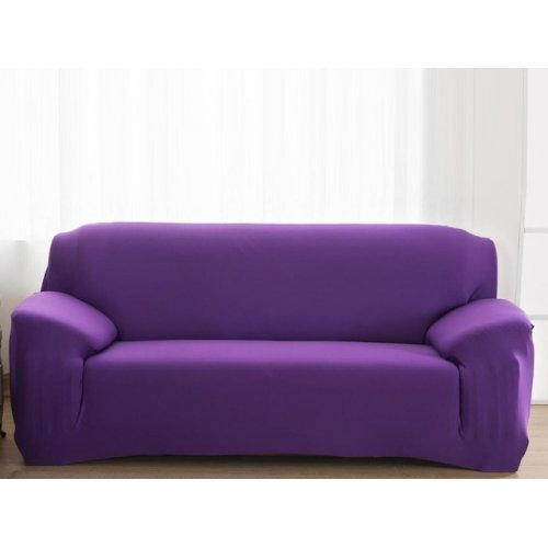 Чехол на трехместный диван HomyTex 195х230 фиолетовый