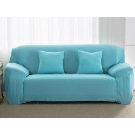 Чехол на трехместный диван HomyTex 195х230 голубой