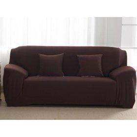Чехол на двухместный диван HomyTex 145х185 кофейный