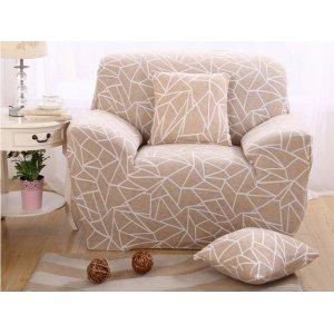 Чехол на кресло универсальный HomyTex с принтом геометрия