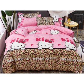 Детское постельное белье HomyTex сатин принт Hello Kitty 150х200
