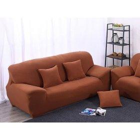 Чехол на трехместный диван HomyTex 195х230 кирпичный