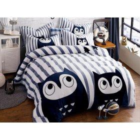 Постельное белье Owls евро размер 200х230