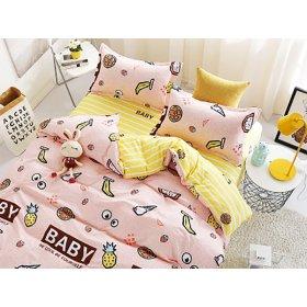 Полуторное постельное белье сатин принт Baby
