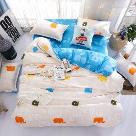 Полуторное постельное белье Bright elephants 150х200