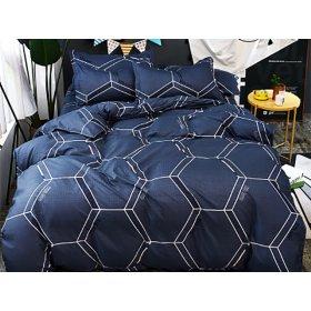Полуторное постельное белье Cyan love cube 150х200