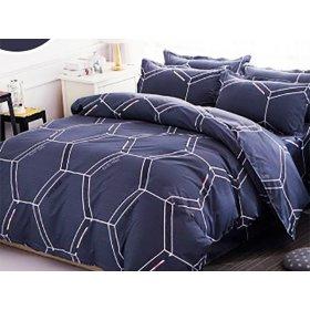 Двуспальный комплект постельного белья Cyan love cube 180х220