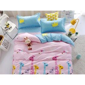 Полуторное постельное белье Gay giraffes 150х200
