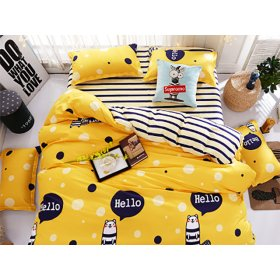 Полуторное постельное белье Hello happy hamster 150х200